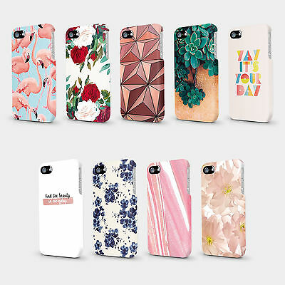 Quotes Rose Gold Floral Flamingos Marble Case Hard Cover For HTC