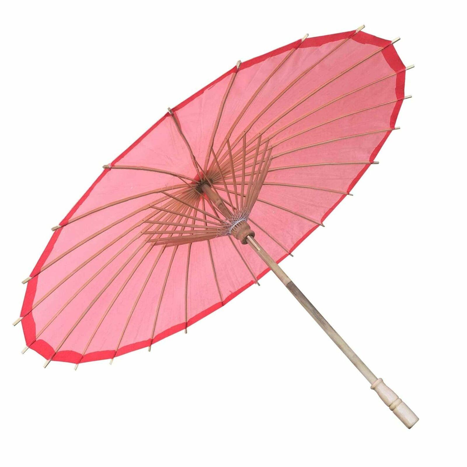 Willow Tree Bamboo Paper Parasol 84 cm Red Umbrella
