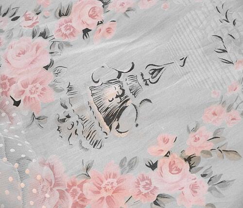 Princess Blue Floral Rose Bedding Duvet Comforter Cover Set King Queen Full Twin