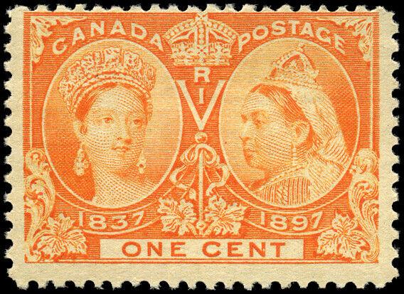 Canada #51 mint F OG NH 1897 Queen Victoria 1c orange Diamond Jubilee CV$20.00
