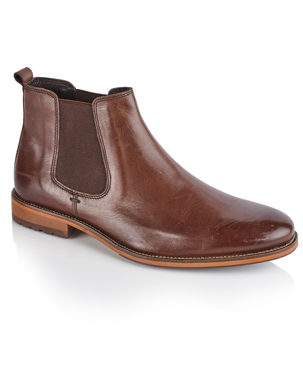 Solebay silver Street Atwood Brown Quality Leather Chelsea Boots