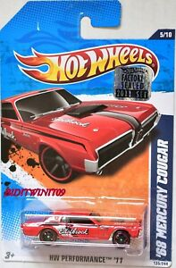 HOT-WHEELS-2011-HW-PERFORMANCE-039-68-MERCURY-COUGAR-RED-FACTORY-SEALED