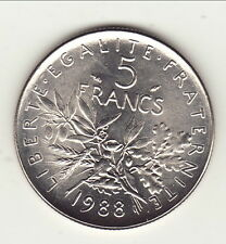 COTE 22 EURO 5 FRANCS SEMEUSE 1988  a saisir  !!