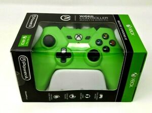 NEW Full Sized Power A Lime Green 1 Wired Controller Xbox One Windows 10 PowerA
