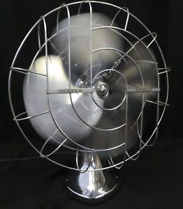 Vintage Chrome Hunter Zephair Oscillating Electric Fan 265