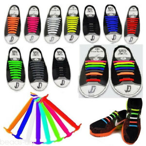 Colorful-No-Tie-Elastic-Silicone-Shoe-Laces-For-Adults-Trainers-Shoes-Canvas-55