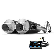 HMF Performance Dual Full System Exhaust Black Turn End Cap + EFI Maverick X3
