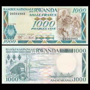 Rwanda-1000-Francs-1988-P-21-UNC