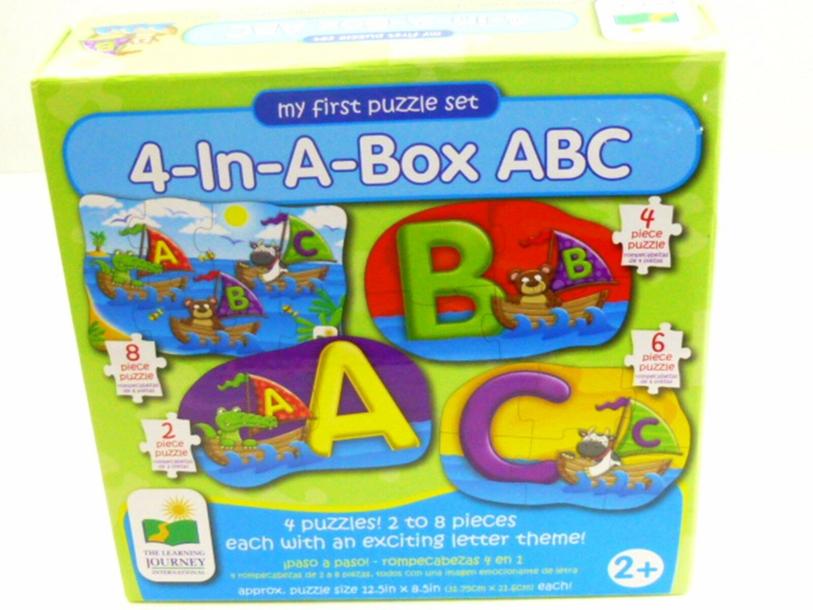 MY FIRST PUZZLE SET 4 IN A BOX  2+ ABC  BY THE LEARNING JOURNEY EXCITING THEME