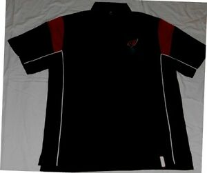 Image is loading Arizona-Cardinals-Victory-Polo-Shirt-Large-Black- Embroidered-