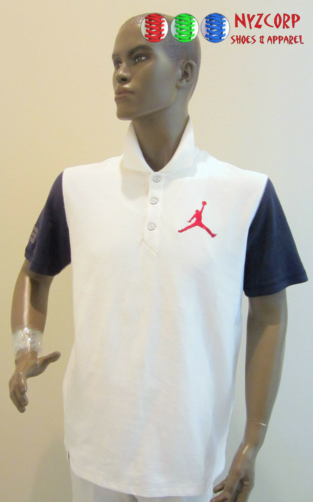 NIKE AIR JORDAN JUMBO JUMPMAN MEN'S POLO SHIRT SZ S