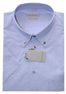 Camicia classica elegante Emmeci uomo manica lunga cotone celeste blu M XL 38 42
