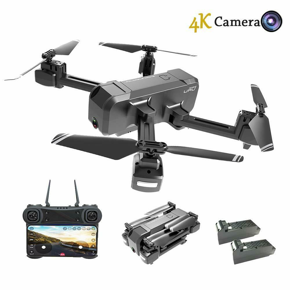 Foldable Drone  with WiFi FPV Live Video 4K telecamera e 720P Optical Flow Position  Ultimo 2018