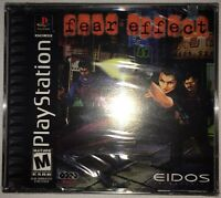 Fear Effect For The Ps1 Playstation Factory Sealed