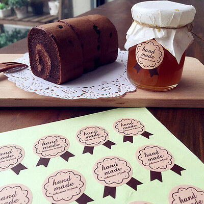 30pcs Handmade Paper Stickers Labels Seal Craft Gift Food Cookie Decal Party JBS
