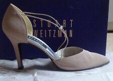 STUART WEITZMAN GABARD IVORY Champagne pull on Sandals Shoes US8.5 UK6 EU39