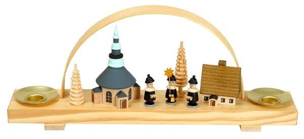 Schwibbogen aldea Seiffen con kurrende 10cm leuchterbogen leuchterbogen leuchterbogen nuevo Navidad 216988