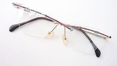 Angemessen Bohr Brille Fassung Leicht Metallrand Farbig Nur Oberrand Cateye Marke Mgm Sizem PüNktliches Timing
