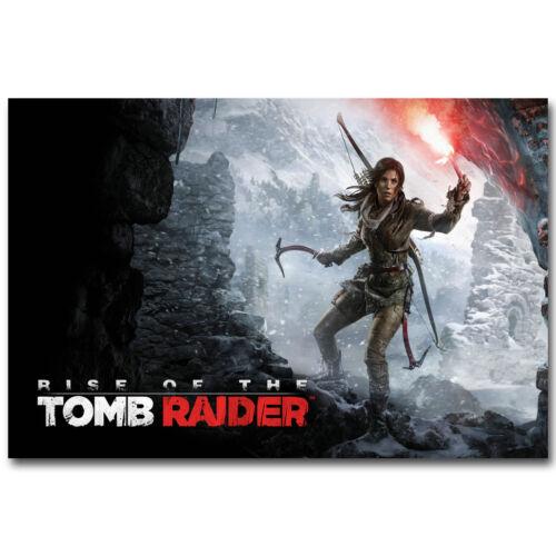 Rise Of The Tomb Raider Lara Croft Game Silk Poster 12x18 24x36 inch 002