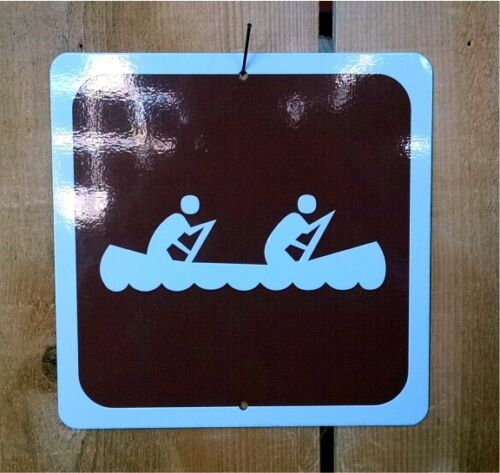 Canoe Boating Recreation Symbol Highway Route Sign