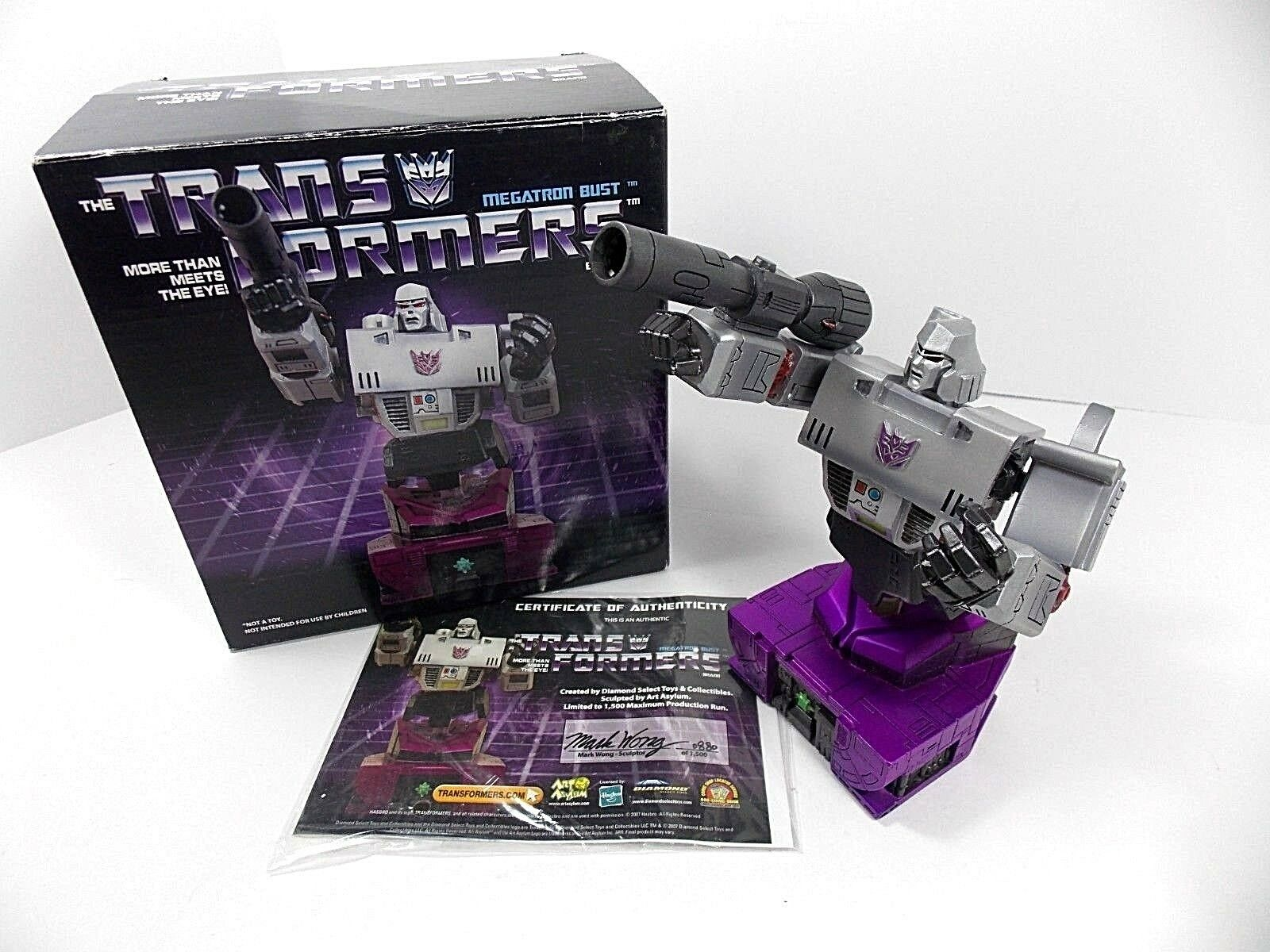 TRANSFORMERS MEGATRON BUST DIAMOND SELECT LIMITED 880 1500 STATUE W BOX AS IS