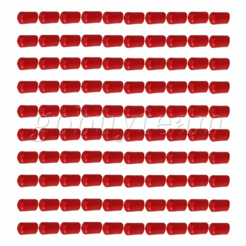 100 x Soft Rubber Hose End Blanking Caps Screw Thread Protector Cover Red 14mm