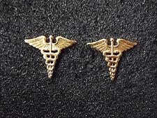 (A21-26) US Kragenspiegel Abzeichen Officer Medical Corps