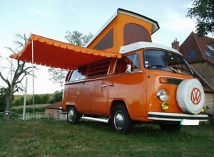 Vw Camper Van >> Details About Top Quality Vintage Sun Canopy For Vw Camper Van Caravan Motorhome Orange C8539p
