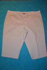 NEW-Target-BELLE-CURVE-Light-Silver-Grey-3-4-Crop-pants-Size-26-Stretch