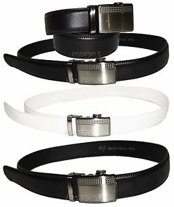 Men/'s belt Auto Lock Silver Eagle Buckle up to 50 inches Genuine Leather Belt