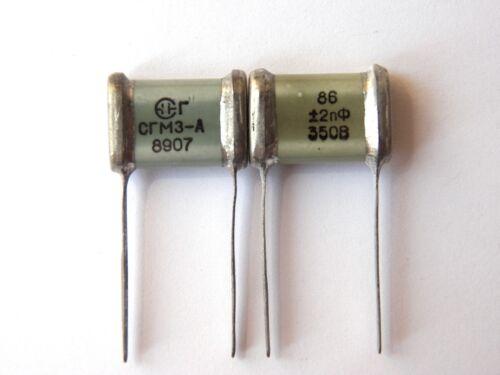 86pF 350 V 2.5/% d/'ex-URSS mica argent SGM Condensateur Hi-end 16pcs