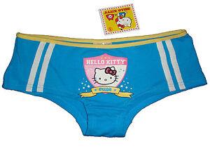 06e6a0246 NWT SANRIO HELLO KITTY RIBBON BLUE BOYSHORT PANTY UNDERWEAR GIFTS S ...