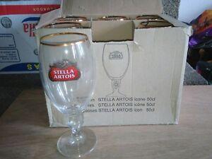 6 sous-bocks 6 verres à bière STELLA 50cl