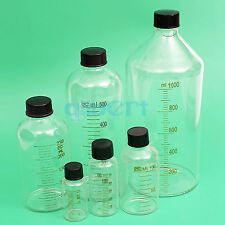 25 1000ml Lab Glass Serum Bottle With Scale Line Screw Cap Reagent Sample Bottle