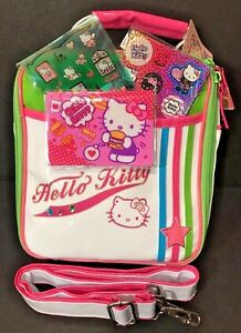 797d5f94bc Sanrio Hello Kitty Vinyl Insulated Lunch Tote Bag w  Strap + ID Case ...