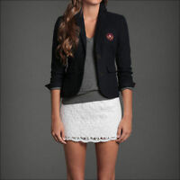$140 Womens Abercrombie Blazer Jacket Pea Coat Wool Blend Suit A&f Casual
