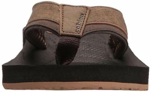 Hommes Cobian Draino Flip Flop Sandale DRA17-201 Chocolat 100/% authentique de la marque New0