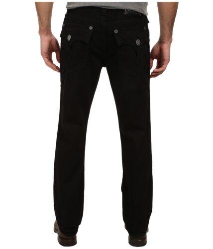 Langley Jeans Pocket Denim Droite Pour Black Hommes Coupe Taille Jet 34 30 Flap Mek CI58w
