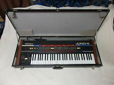 Vintage Roland Juno 6 Analog Synthesizer w/original hard carry case AMAZING