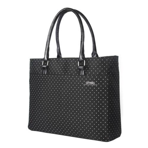 DTBG 15.6Inch Women Shoulder Tote Bag Nylon Briefcase Casual Handbag Laptop Case