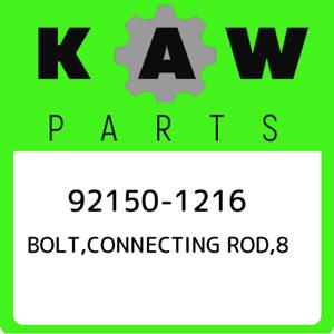 92150-1216 Kawasaki Bolt,connecting rod,8 921501216 New Genuine OEM Part