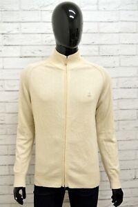 Maglione-Uomo-TRUSSARDI-T-SPACE-Taglia-S-Felpa-Pullover-Sweater-Man-Lana-Bianco