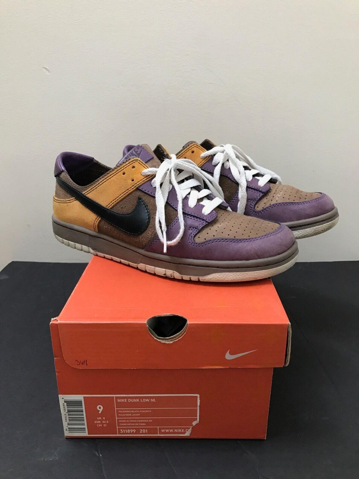 Nike Dunk Low NL Palomino Black-Hyacinth shoes Size 9 (311899 201)