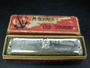 Vintage M Hohner Hohner's Old Standby Harmonica 440 Key Of C Made In Germany