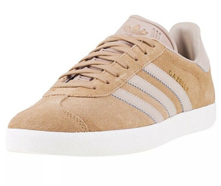 NEW adidas Originals Gazelle Sneaker,Craft Canvas/Trace Khaki/White SZ 10 BZ0032