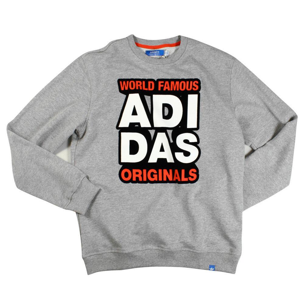 "lluvia Tortuga Marcado  Adidas Originals ""World Famous"" G World Crewneck Sweatshirt Men's 2XL BNWT  for sale online"