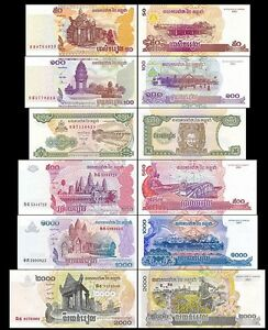 500 Riels Uncirculated Banknote Set # 3 200 Cambodia 100