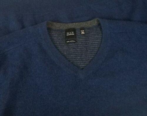 Black Saks Fifth Avenue Men's Blue Cashmere V-Neck