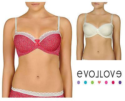 Evollove Ladies Rose Blush Balconnet Underwire Bra sizes 8DD 10DD 16G Colour Tan