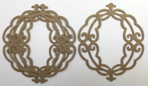 Vintage Marco Oval {3} Decorativos Marcos De Fotos-Bare Aglomerado Die Cuts